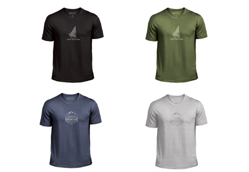 Premium Merino T-Shirt - Four Colours & Five Sizes Available