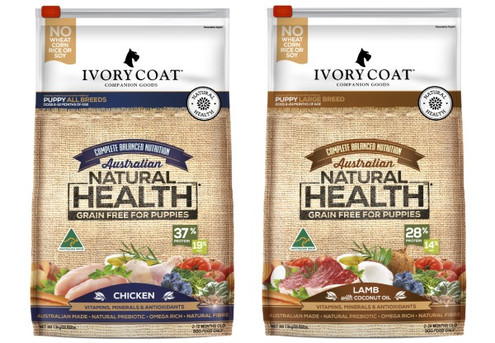 13kg Bag of Ivory Coat Dry Dog Puppy Food  Range - Two Flavours Available