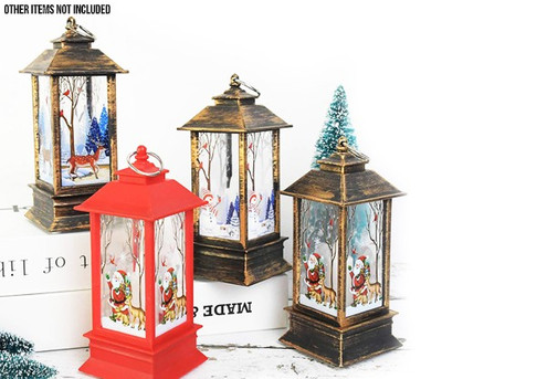 Christmas Decoration Retro LED Lantern - Four Styles & Two Sizes Available