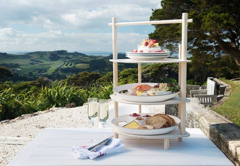 Thomas's Bach Waiheke Signature High Tea & Sparkling Wine for One Person incl. Bottle of Rose Fizz to Take Home, Return Ferry & Bus to Thomas's Bach - Options for up to Ten People
