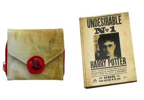 Harry Potter Product Range - Options for Wallet or Notebook