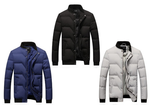 Warm Puffer Jacket - Three Colours & Six Sizes Available