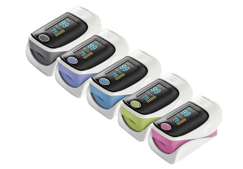Fingertip Heart Rate Monitor with Pulse Oximeter - Five Colours Available