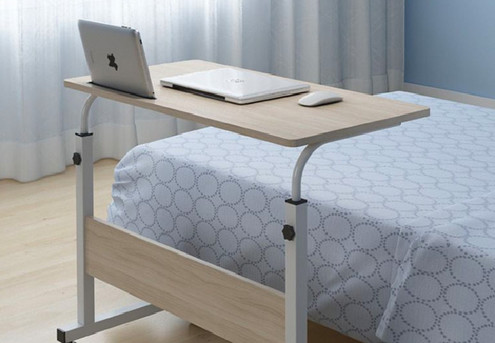 Mobile Beside Lifting Computer Table - Two Colours Available