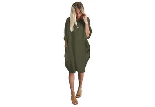 Comfy Casual Dress - Four Colours & Five Sizes Available with Free Delivery