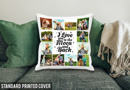 Standard Personalised Cushion Cover incl. Nationwide Delivery - Option for Premium Cover Available