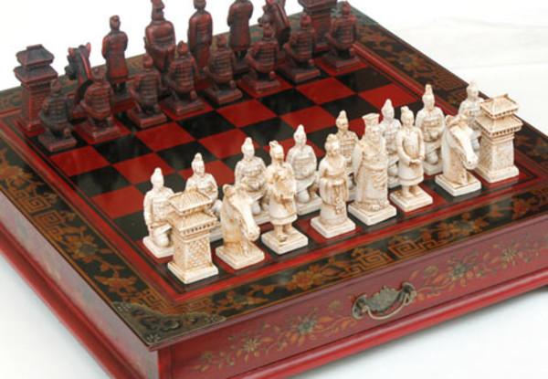 Vintage Style Chess Set Grabone Nz
