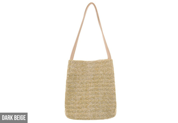 Casual Straw Braided Handbag - Two Colours Available