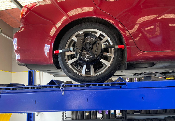 Wheel Alignment Package incl. a Tyre Rotation, Pressure Check & Visual Safety Check for a Japanese Car - Option For 4WD or European Car