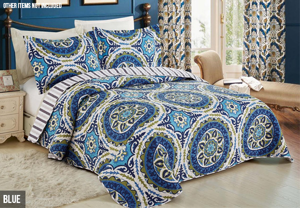 Quilted Bedspread Set - Three Styles & Two Sizes Available
