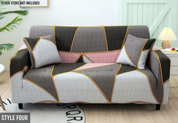 Geometric Elastic Sofa Cover Range - Five Designs & Four Sizes Available