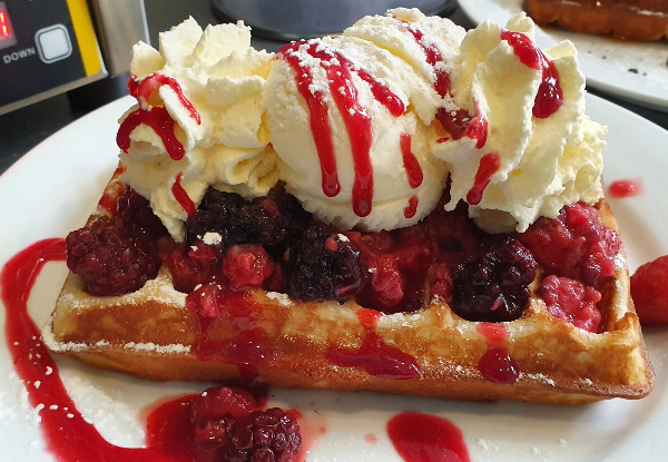 Two x Fresh Belgian Waffles incl. Deep South Ice Cream
