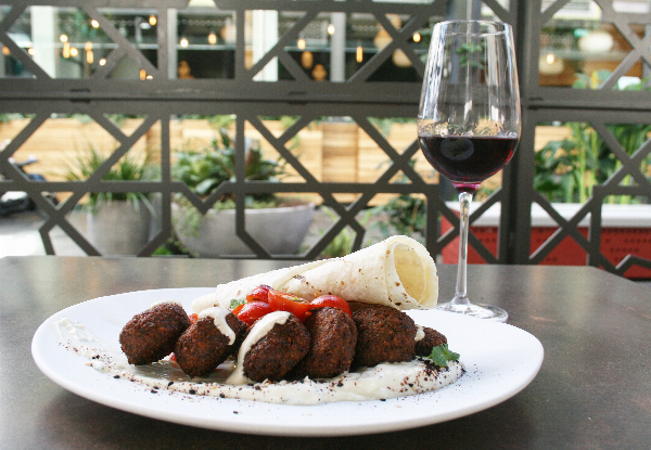 Orewa Mediterranean Lunch Dining for Two People incl. Two Mains & Two Glasses of House Wine or House Beer - Options for up to Six People