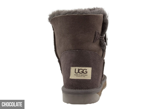 Comfort Me Unisex Australian Made Memory Foam Mini Button UGG Boot's - Five Colours Available