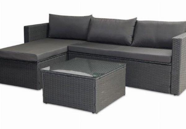 Oasis Three-Piece Outdoor Lounge Set - Two Colours Available