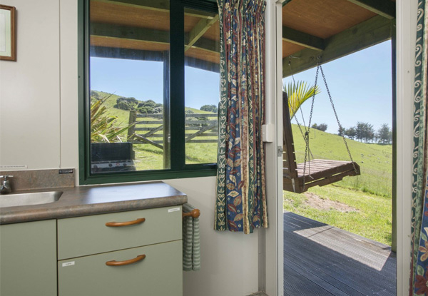 Two-Night Accommodation for Two People in the Nikau Hut on Pepin Island Farm incl.  Breakfast Pack & Cheeseboard Platter
