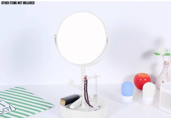 Double Sided Vanity Cosmetic Make-Up Pedestal Mirror