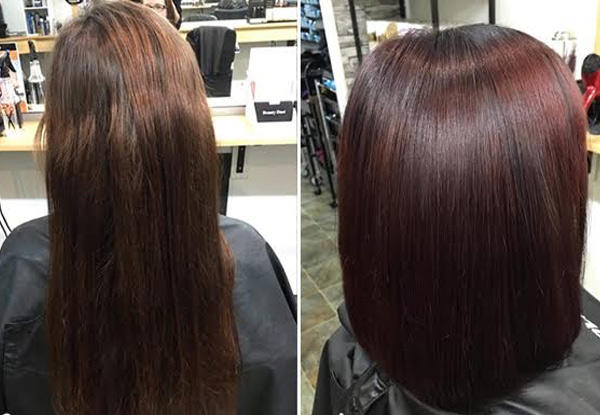 Restructuring Keratin Package, Shampoo Service, Head Massage & Blow Wave with Options to incl. Any Two At-Home Kerasilk Aftercare Products - Nine Locations Available