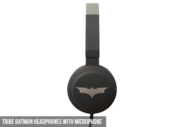 Tribe Headphones with Microphone - Options for Wonder Woman, Batman or Darth Vader