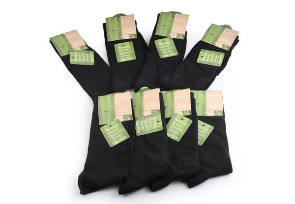 Eight Pairs of Men's Bamboo Fibre Blend Socks
