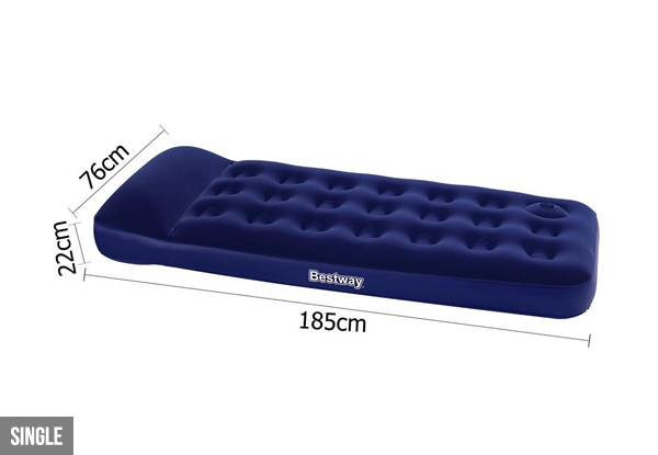 Air Mattress with Built-In Foot Pump - Two Sizes Available
