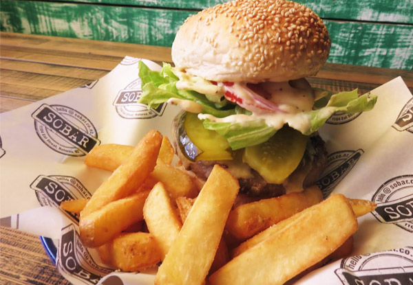 Burger & Fries Combo for One Person - Valid Seven Days a Week