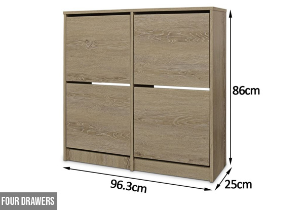 Enkel Shoe Cabinet Hideaway Range - Two Sizes Available