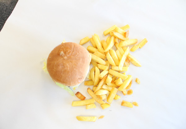 Two Burgers & a Scoop of Chips - Option for Four Burgers & Two Scoops of Chips