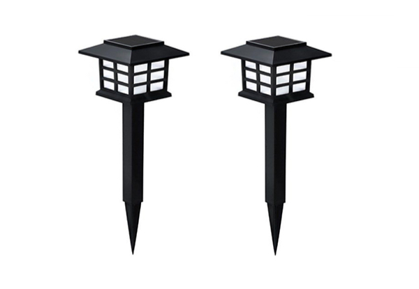 Two-Pack Mini Home Garden Outdoor Solar Lawn Lamp - Options for Four- or Six-Pack