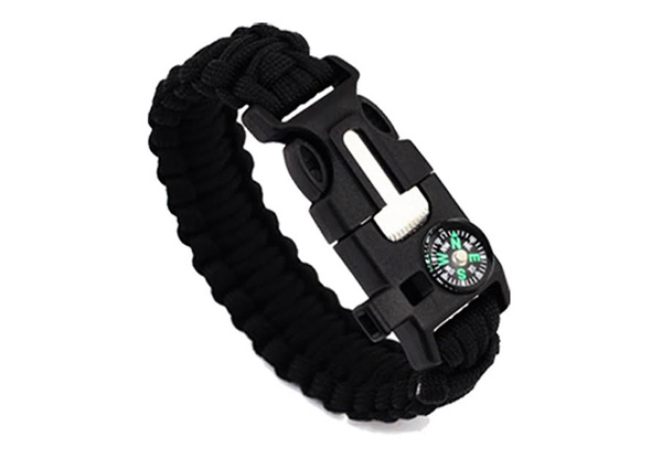 Two-Pack of Paracord Survival Bracelets with Free Delivery - Option for Four-Pack Available