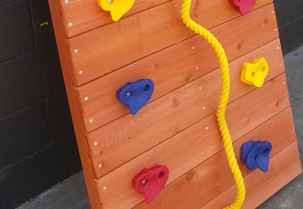 kids outdoor climbing wall grabone nz. Black Bedroom Furniture Sets. Home Design Ideas