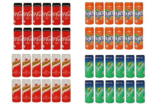 12pk Soft Drink Range - Seven Options Available