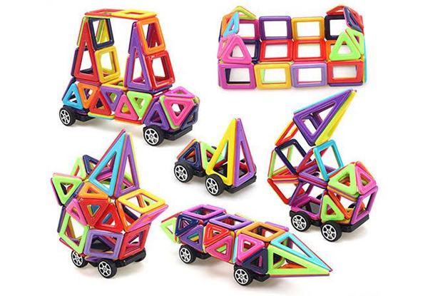 Magnetic Building Blocks - Options for 64- or 113-Piece Sets with Free Delivery