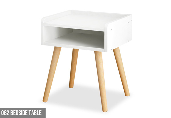Bedside Table Range - Three Styles Available & Option for Two