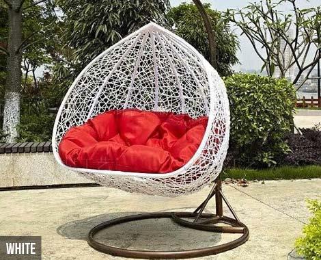 Double Seat Pe Egg Chair Grabone Nz