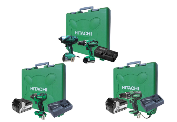 Hitachi 18V Power Tool Kit Range - Options for Impact Drill, Impact Driver or Dual Kit