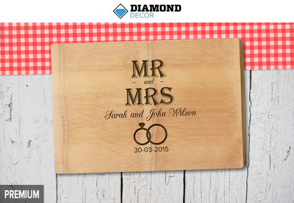 Personalised Bamboo Chopping Board incl. Nationwide Delivery - Option for a Premium Personalised Chopping Board - 50 Templates Available