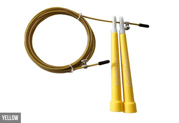 Speed Skipping Rope - Eight Colours Available with Training Guide