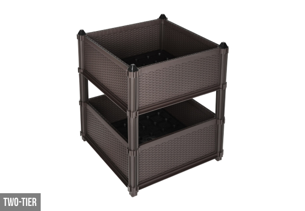 Single Square Garden Planter Box - Option for Two-Tier
