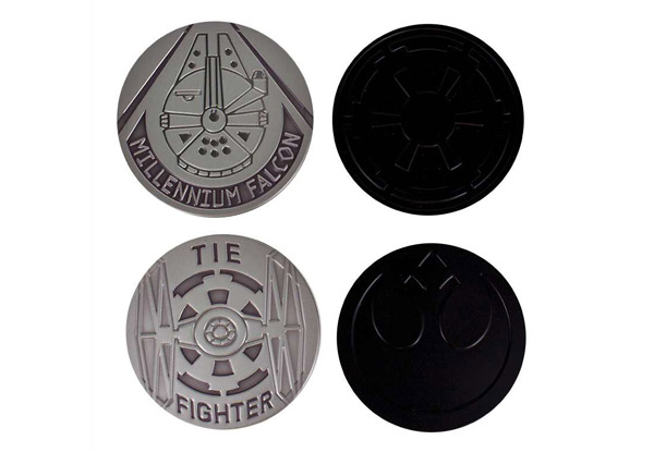 Set of Four Star Wars Metal Coasters with Free Delivery
