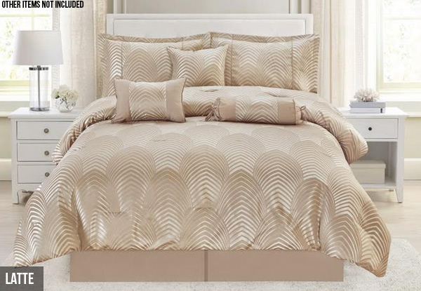 Seven-Piece Jacquard Comforter Sets - Two Sizes & Two Colours Available