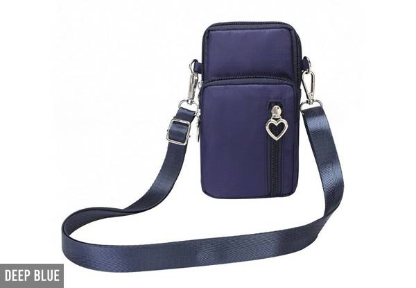 Water-Resistant Mobile Cross-Body Bag - Four Colours Available with Free Delivery
