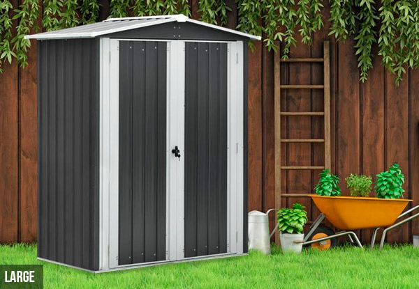 Galvanised Coated Garden Shed - Three Sizes Available