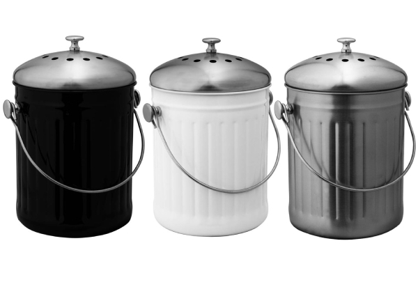Avanti Five Litre Compost Bin - Three Colours Available & Option for Two-Pack of Filters
