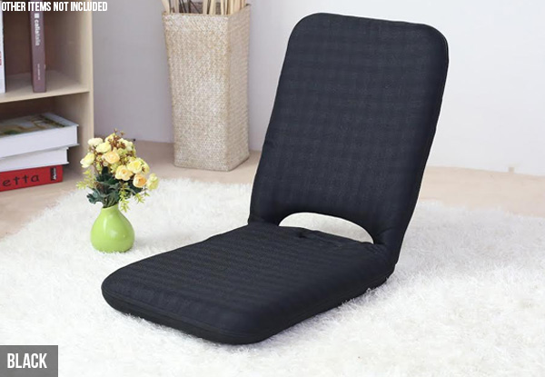 High-Backed Portable Floor Chair - Four Colours Available