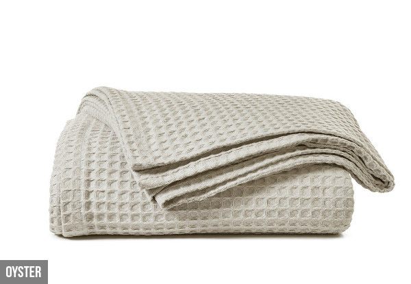 Canningvale Luxury Cotton Waffle Blanket with Free Nationwide Delivery - Three Colours Available
