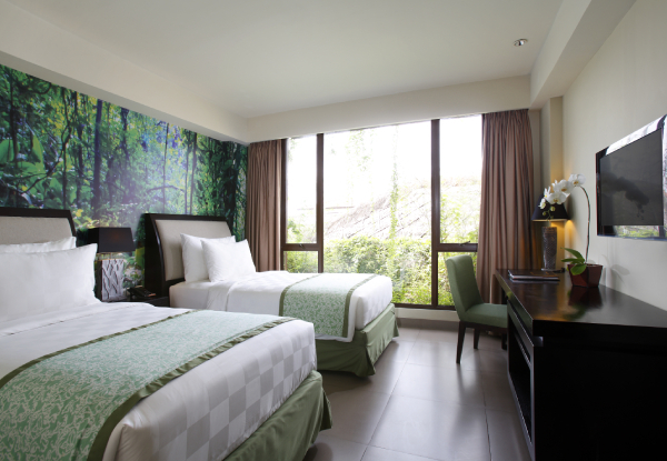 Three-Night Bali Hotel Package for Two People in a Double Deluxe or Twin Room incl. Return Airport Transfers, Daily Breakfast, Bucket of Beer, Complimentary Dinner & 60-Minute Massage - Options for Five or Seven Nights Available