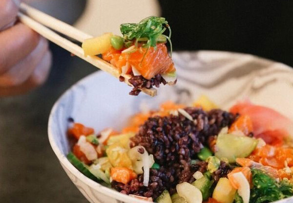 Healthy Regular Hawaiian Yeah Bowl Poke with a Japanese Twist - Available at Two Locations
