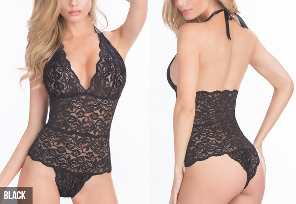 Lace Teddy - Available in Black, Red or Pink