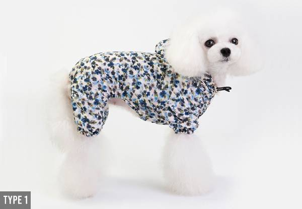 Small Pet Raincoat - Three Styles & Four Sizes Available